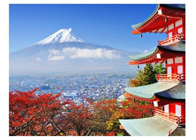 Mont Fuji en automne - 66 x 50 cm