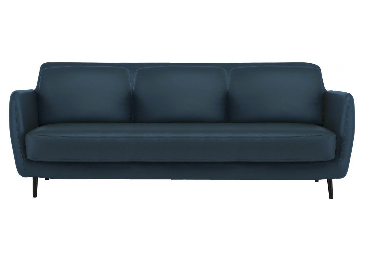 Rent sofa fixed back sky blue sofas rental get furnished for Settee without back