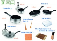 Saucepan and utensil - 11 pieces