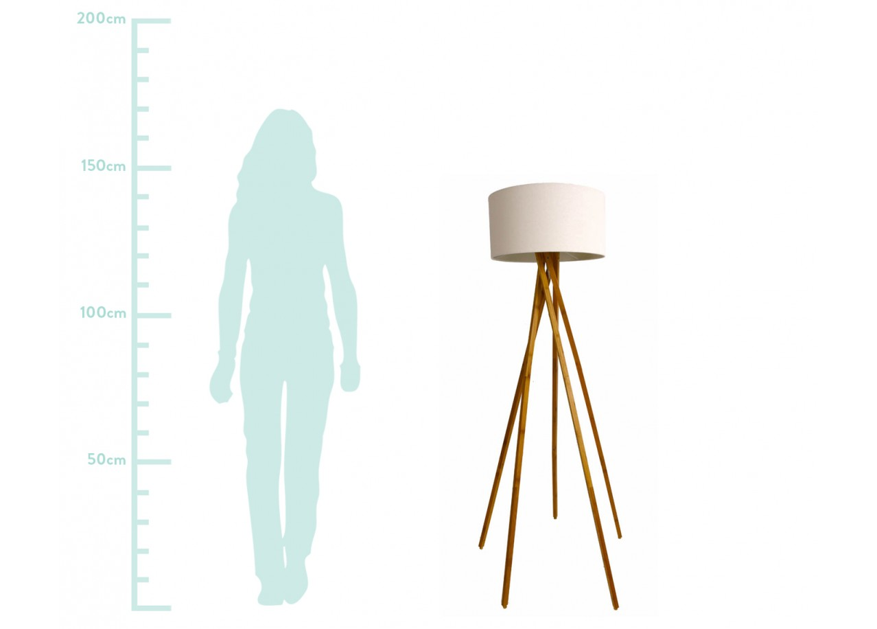Rent lampadaire lidya floor lamps rental get furnished for Lampadaire style scandinave