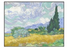 Wheatfield with cypress - 60 x 45 cm