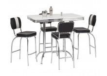 Ensemble table haute + 4 tabourets ALTA