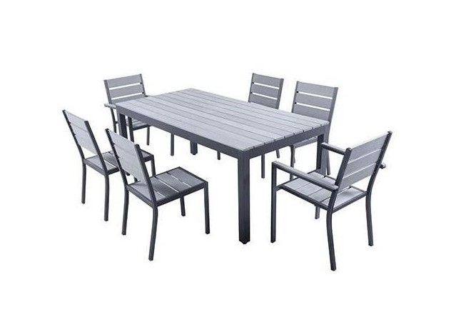 Location table de terrasse en aluminium et polywood magda for Table de jardin terrasse