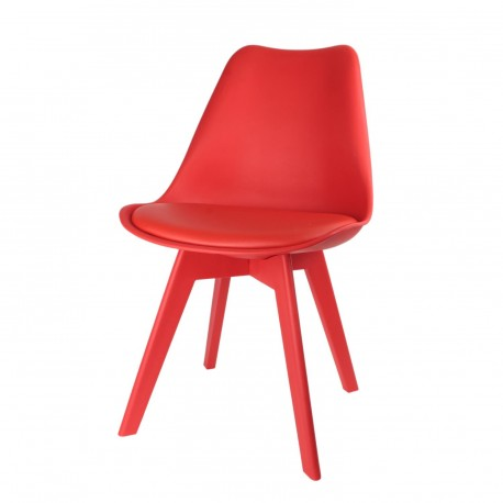 Chaise HELSI Rouge