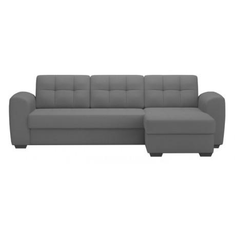 Canapé d'angle convertible avec coffre BALI Gris