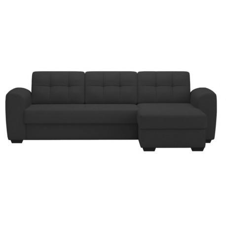 Canapé d'angle convertible avec coffre BALI Noir