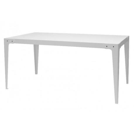Table à manger MEGAN Blanc 160,0 cm