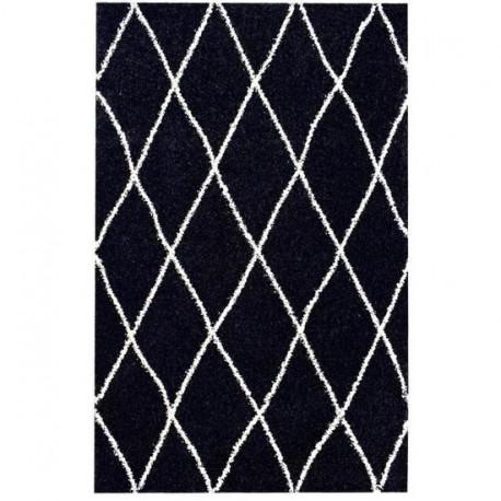 Tapis ALTO Noir et blanc - 120 x 170 cm