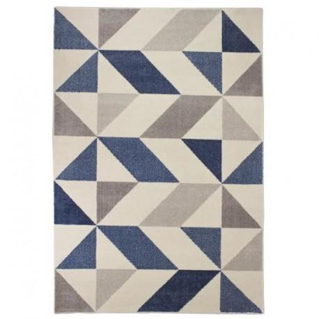 Tapis MICHA Bleu et beige - 120 x 170 cm