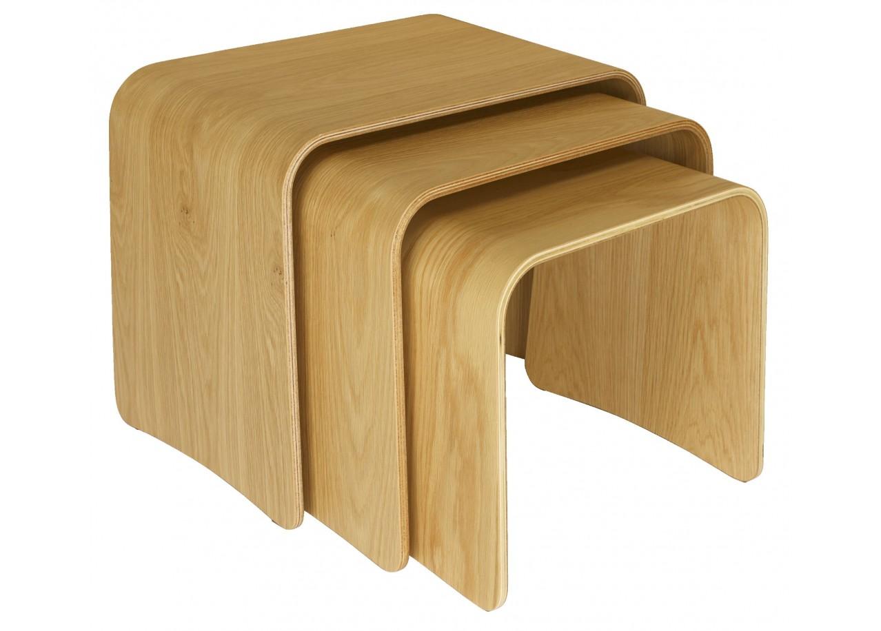 Location table basse d 39 appoint en bois bruge for Table haute d appoint